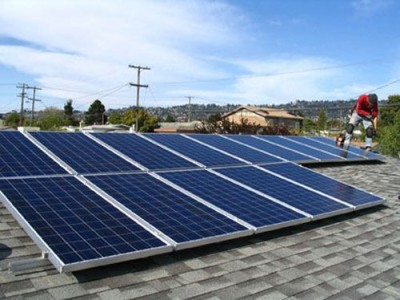 Residential Solar Power Install